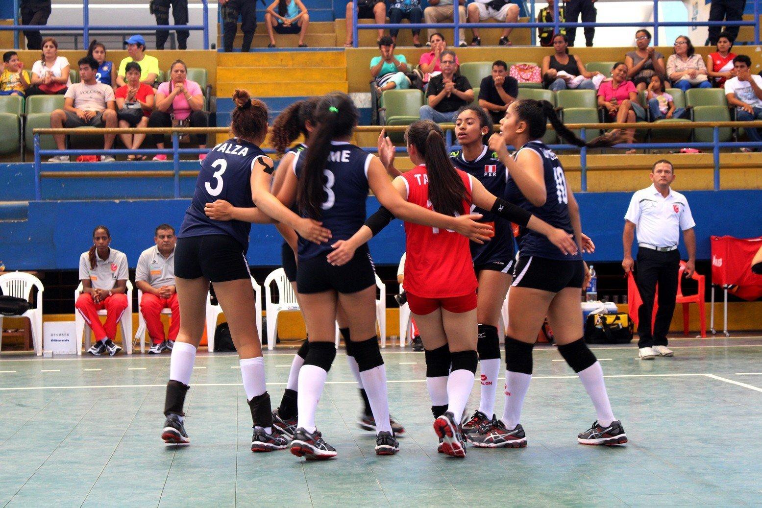 El sexteto peruano celebró su segunda victoria en el Sudamericano Infantil.