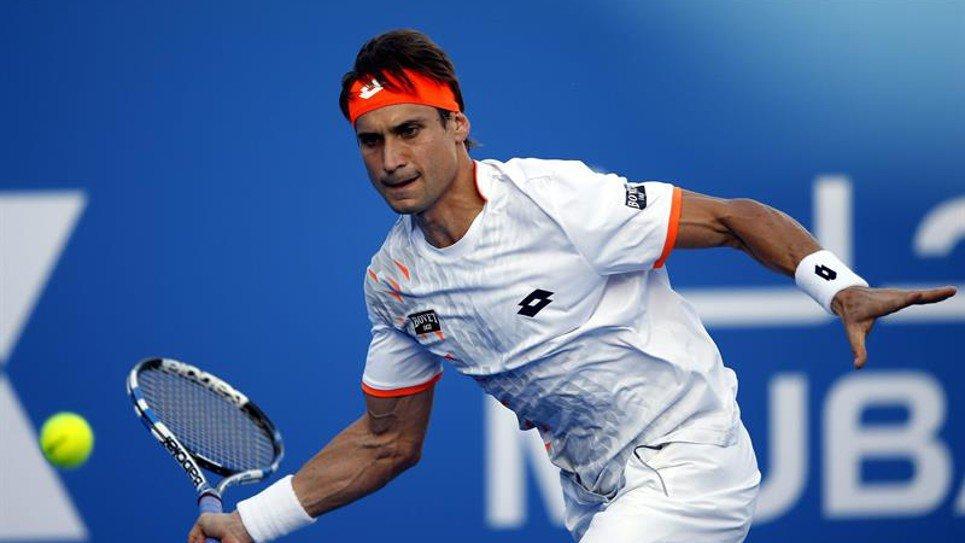Ferrer derrotó con holgura a Tsonga en los Emiratos Arabes Unidos.