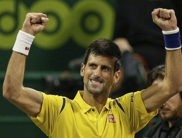 Djokovic ganó en Doha su primer título del año.