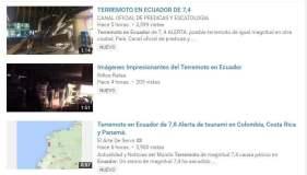 Impactantes videos tras sismo en Ecuador