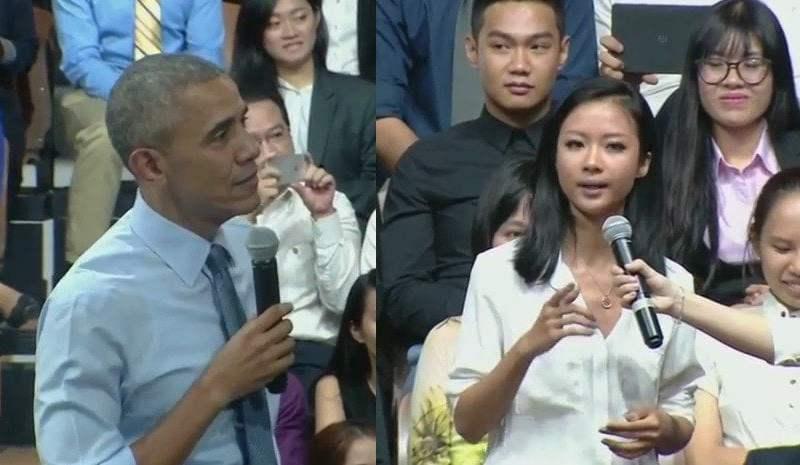 Barack Obama rapea en Vietnam