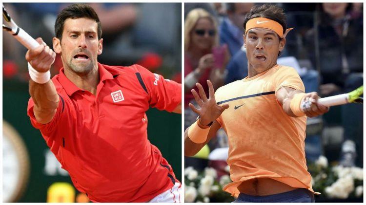 Djokovic y Nadal se enfrentarán mañana en Roma.