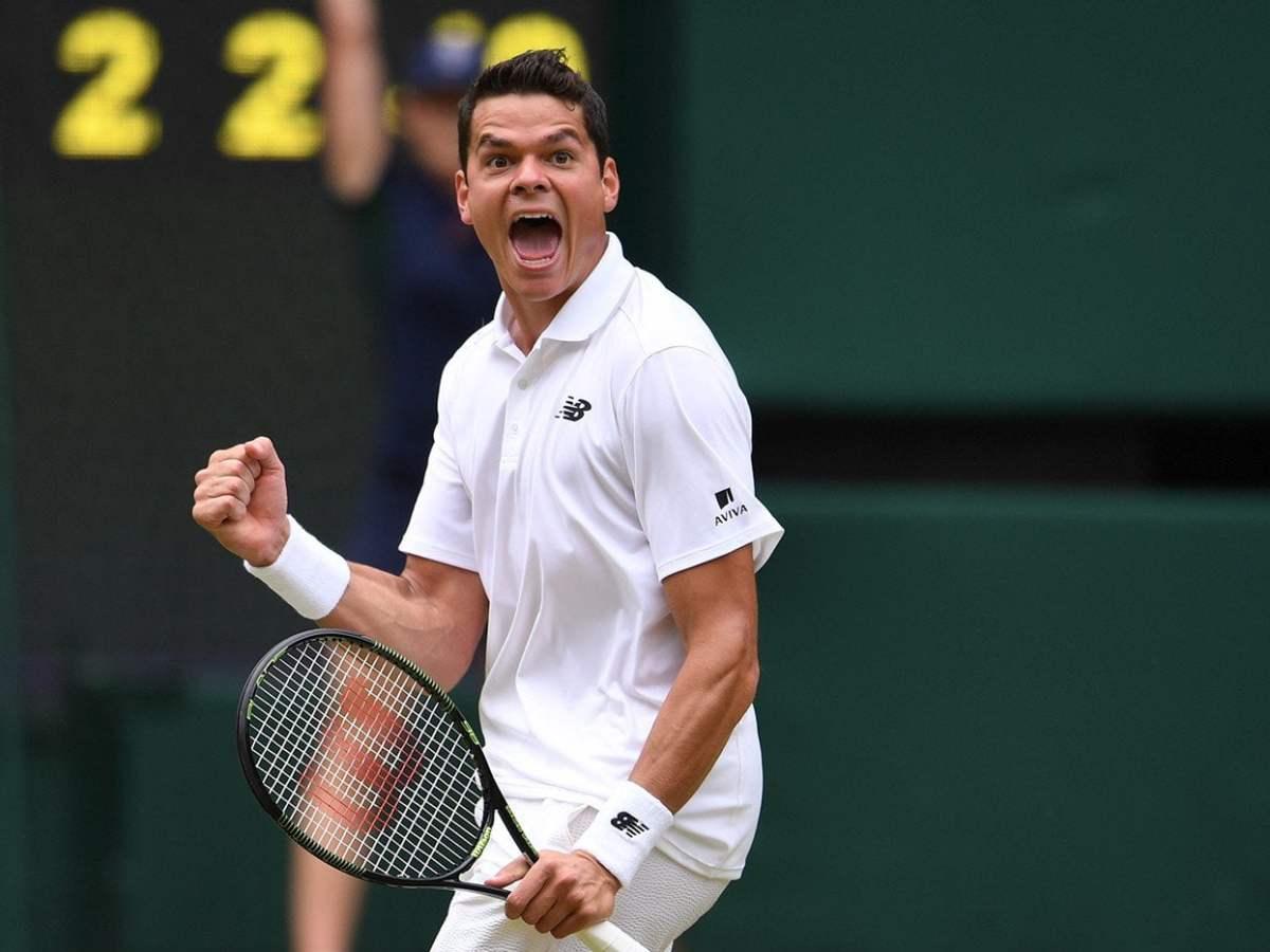 Raonic vino de atrás para celebrar ante Federer.