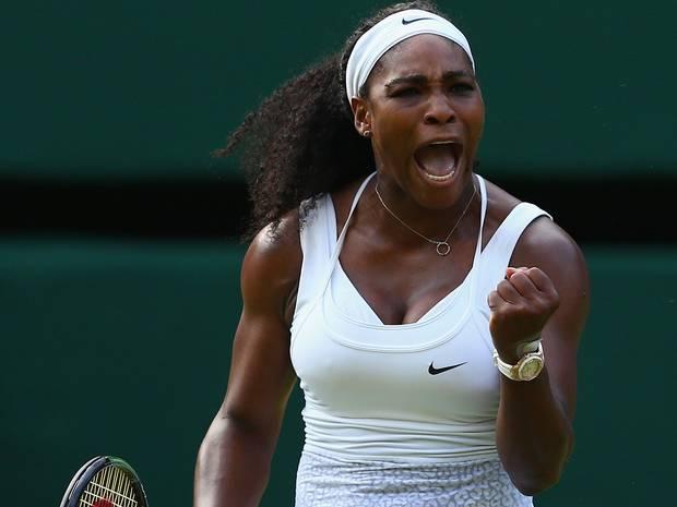 Serena Williams apabulló a la alemana Beck en Wimbledon.