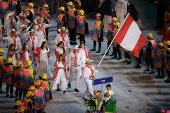 Perú desfiló en el Estadio Maracaná de Río de Janeiro  con ocasión de la inauguración de los Juegos Olímpicos.