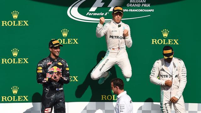 Rosberg se alzó con la victoria en Bélgica.