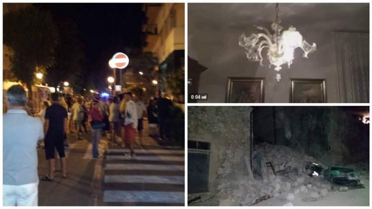 Terremoto en Italia: difunden videos de fuerte sismo