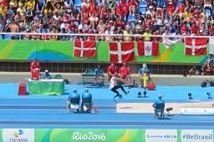 Carlos Felipa participó en el salto alto paraolímpico.
