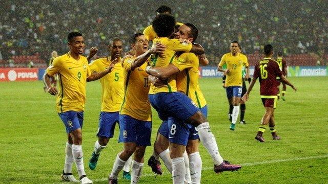Brasil alcanzó la punta de las clasificatorias Rusia 2018.