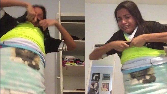 Se puso 100 camisetas a la vez para volverse viral y terminó llorando [VIDEO]