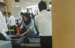 Nadine Heredia en el aeropuerto