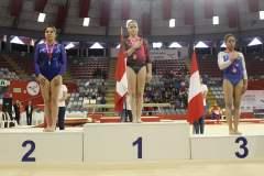 La joven peruana Ariana Orrego volvió a lucirse en la gimnasia artística.