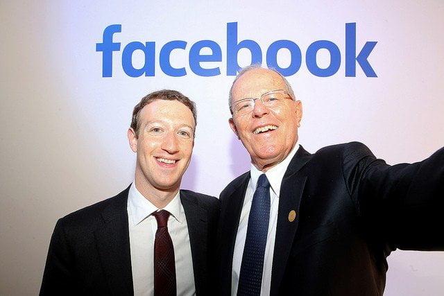 El presidente Kuczynski se reunió con Mark Zuckerberg,  creador de la red social Facebook.