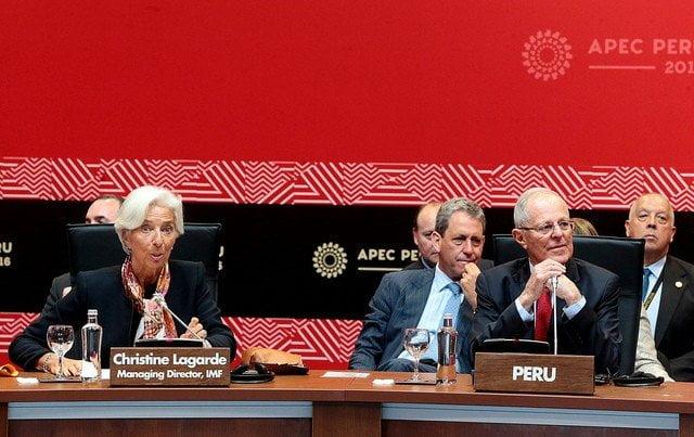 El presidente Kuczynski dialogó con la Directora del FMI.