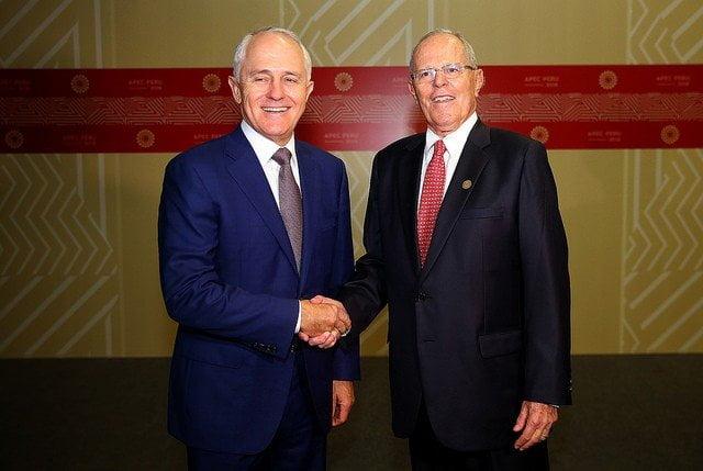 El presidente Kuczynski y el premier de Australia se reunieron con motivo de la Cumbre APEC.