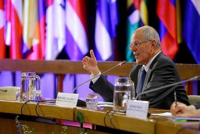 El presidente Kuczynski en la conferencia magistral que ofreció en la sede de la CEPAL.