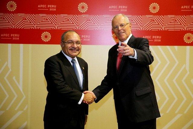 El presidente Kuczynski se reunió con Peter O'Neill, premier de Papua Nueva Guinea, país que será el próximo anfitrión del APEC en el 2018.