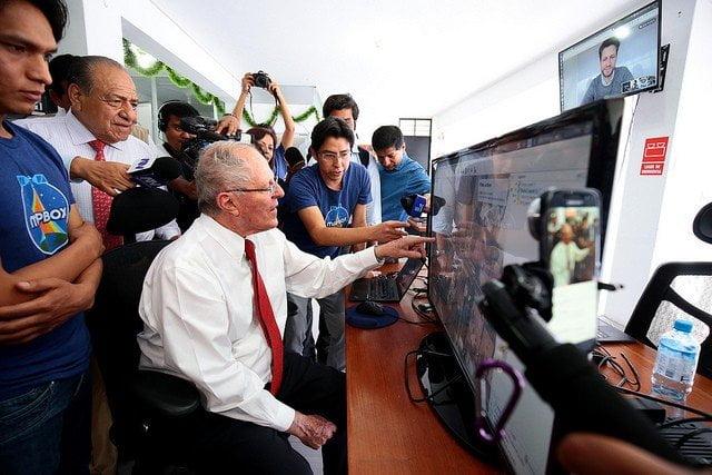 El presidente Kuczynski felicitó a los jóvenes ayacuchanos que promueven los mapas virtuales.