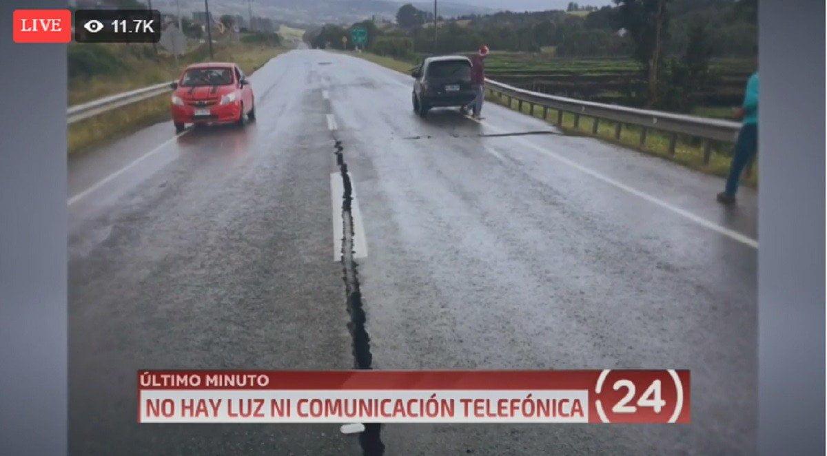 Terremoto en Chile de 7.6 grados causó serios daños