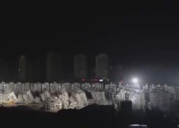 Impactante demolicion de edificios en China