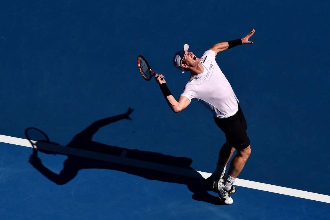 Murray transpiró más de lo esperado en el debut del Abierto de Australia.