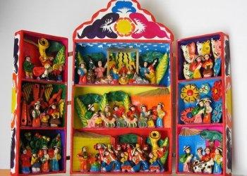 Los retablos ayacuchanos fueron uno de los productos presentados en Toronto.