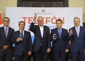 El presidente Kuczynski puso en marcha la campaña TELEFÓN.