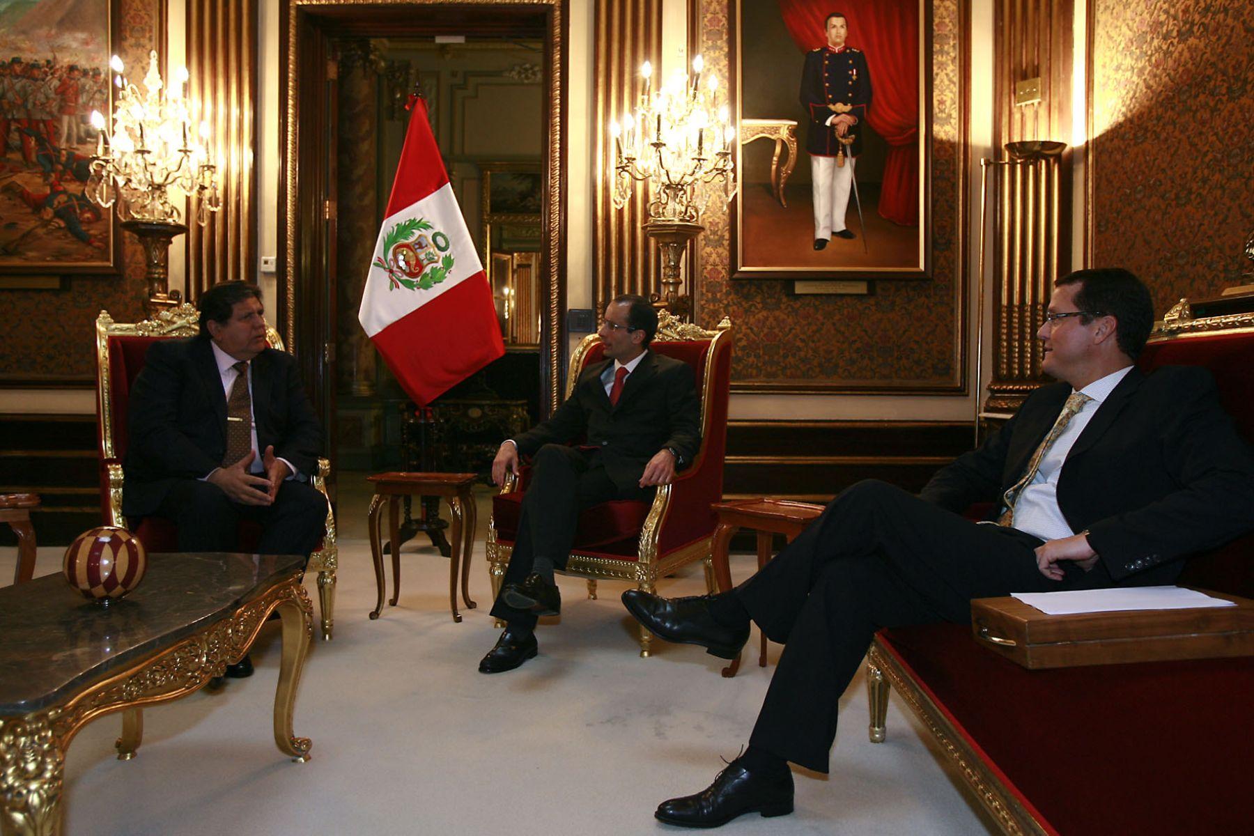 Alan García, Marcelo Odebrecht y Jorge Barata