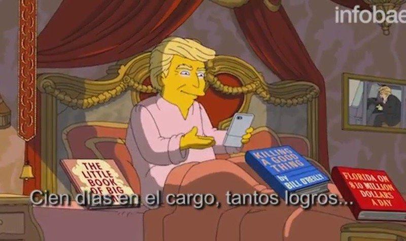 Donald Trump en los Simpson
