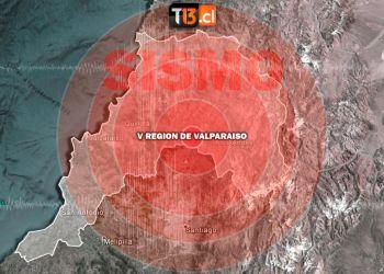 Fuerte sismo cortesía Teletrece
