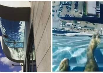 Viral: la increíble piscina suspendida a 150 metros de altura