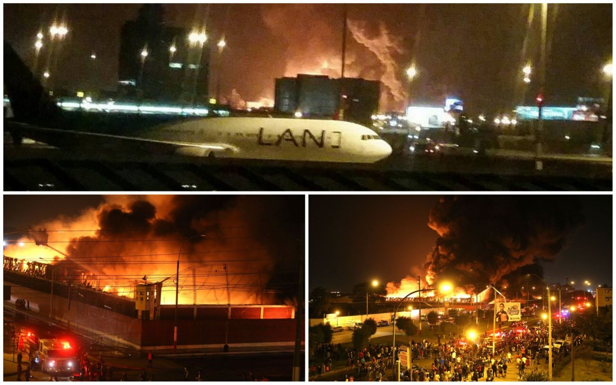 Gran incendio se registra cerca al aeropuerto en el Callao