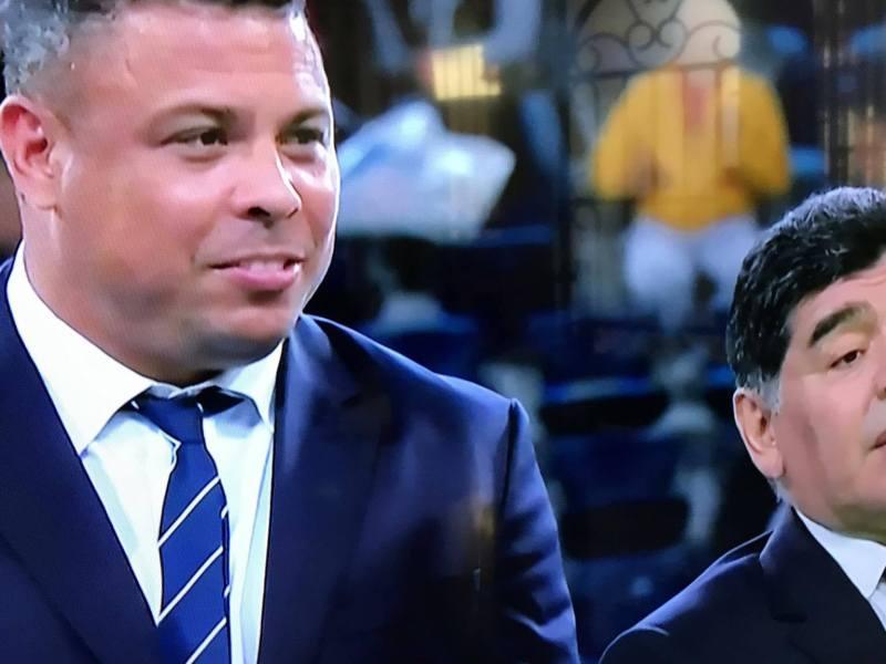La reaparición de Maradona y Ronaldo en la Copa FIFA Confederaciones