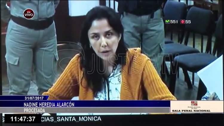 Nadine Heredia en prisión