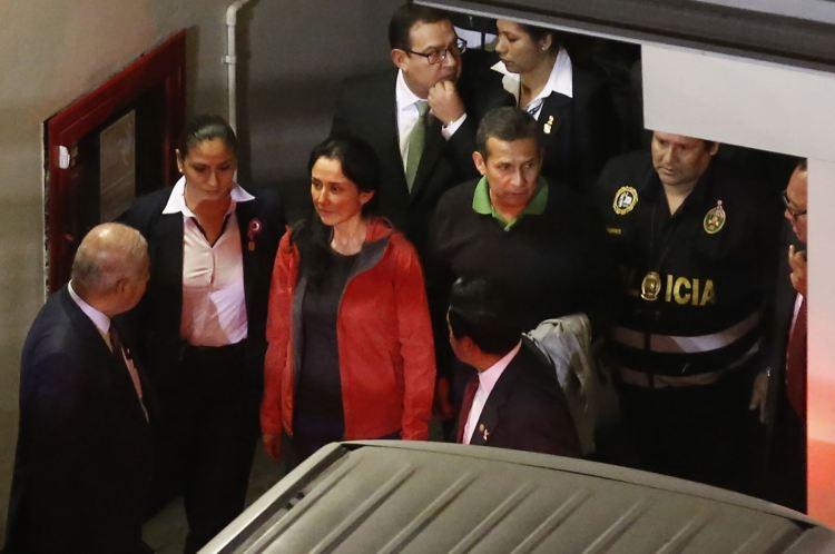 Ollanta Humala y Nadine Heredia en el PJ
