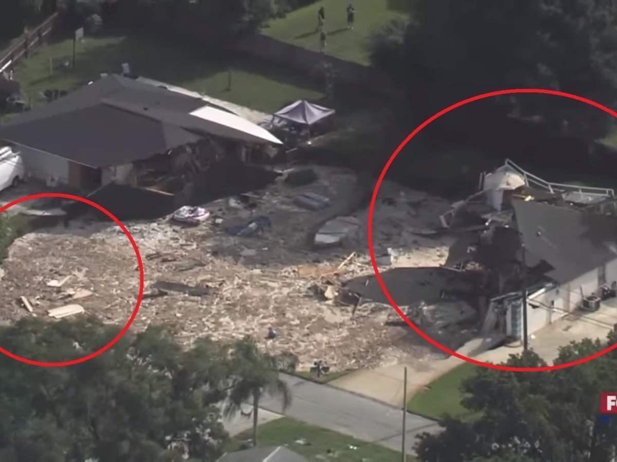 Socavón se traga varias casas en La Florida