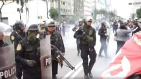 Docentes en huelga en Lima