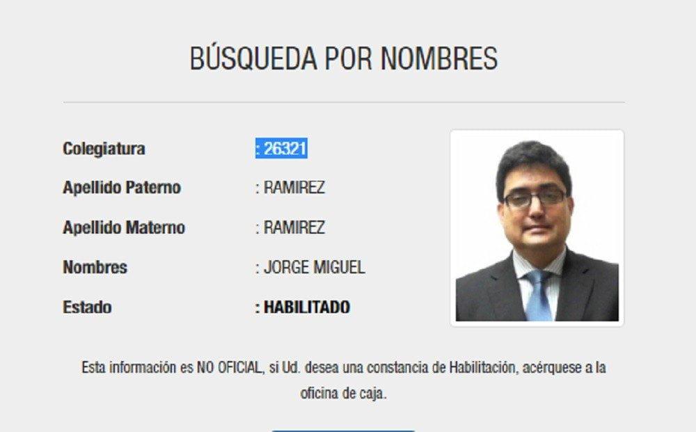 JORGE MIGUEL RAMÍREZ RAMÍREZ
