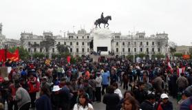 Profesores en huelga no llegaron a acuerdos con el Minedu (Foto Perú 21)