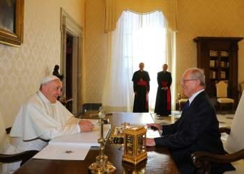 la visita del Papa Francisco I al Perú, fortalecerá la reconciliación, Jorge Bergoglio, nombre secular del Papa, El presidente de la República, Pedro Pablo Kuczynski, Lima, La Libertad