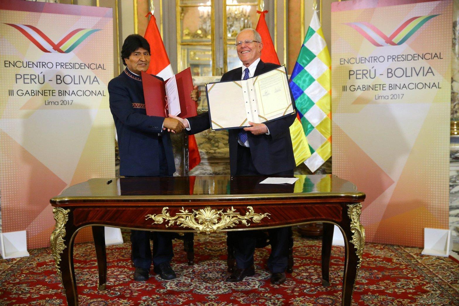 Gobiernos de Perú y Bolivia afianzan relaciones tras suscribir Declaración de Lima