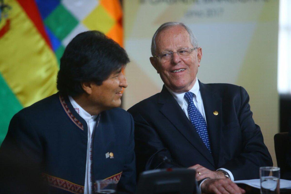 Presidentes Kuczynski y Morales lideran Binacional Perú-Bolivia en Lima
