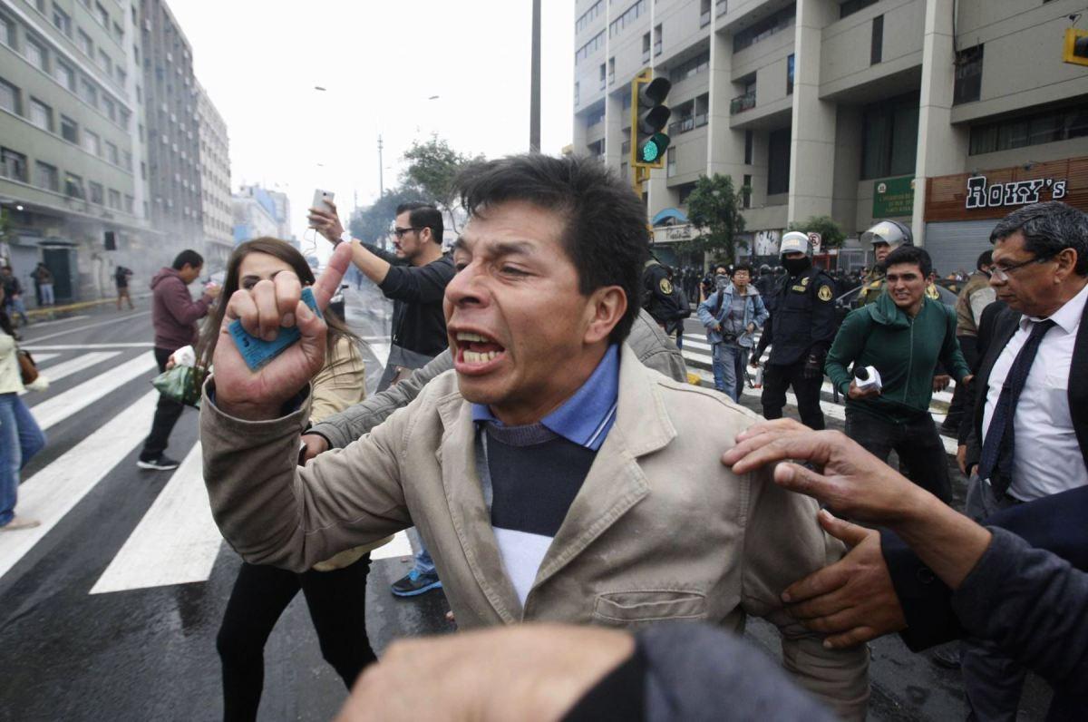 Pedro Castillo Comité de Lucha de las bases regionales