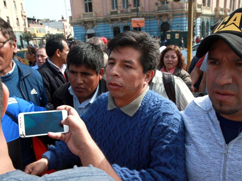 Pedro Castillo, dirigente del Comité de Lucha