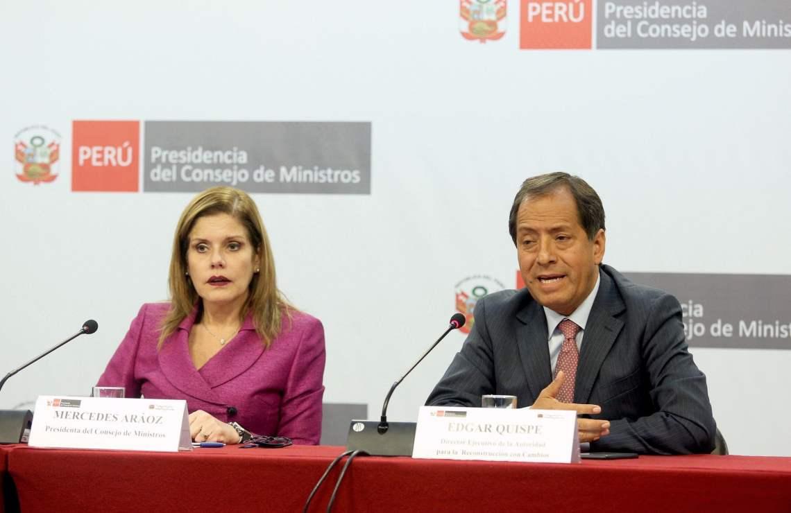 La premier Mercedes Aráoz afirmó que el gobierno apoya las necesidades más urgentes de los peruanos.