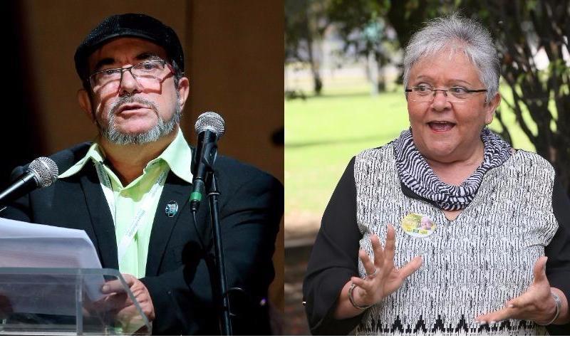 Rodrigo Londoño e Imelda Daza, los candidatos de las FARC