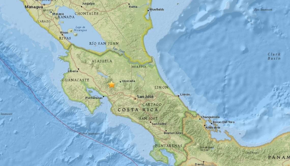 Sismo en Costa Rica