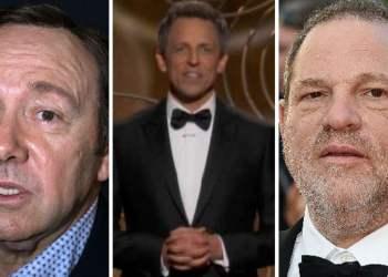 Globos de Oro Kevin Spacey y Harvey Weinstein ridiculizados por acoso sexual