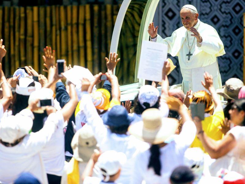 Papa Francisco en Puerto Maldonado