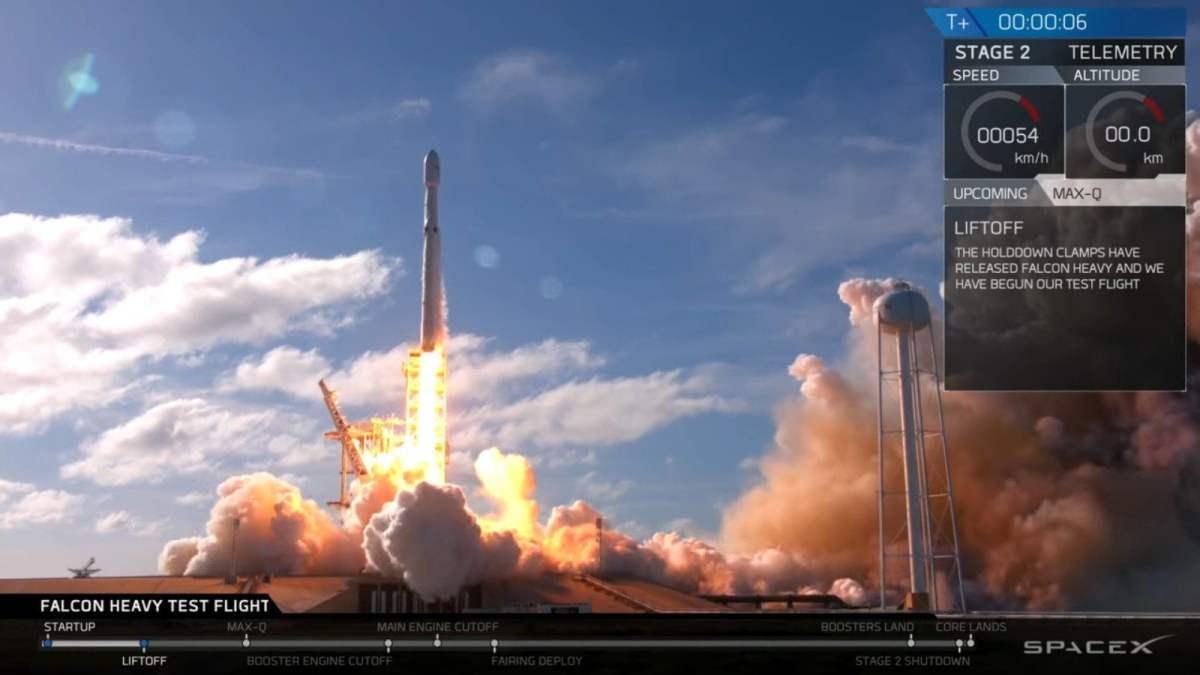 SpaceX lanza el cohete más potente del mundo, el Falcon Heavy